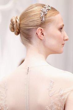 A glitzy headband is the perfect way to update a classic ballerina bun