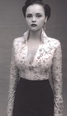 great outfit, especially the blouse - embroidery or jacquard?