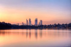 Sunset over City of Perth, WA - most western city of Australian Continent