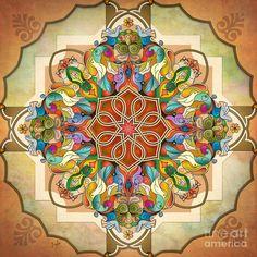 images of mandalas | Mandala Birds Digital Art by Bedros Awak - Mandala Birds Fine Art ...