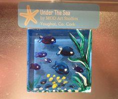 MOD ART-Painted Glass Magnet- GM020 A