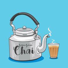 Tea Wallpaper, Tea Logo, Indian Illustration, Tea Coaster, Truck Art, India Art, Indian Art Paintings, Tea Art, Food Illustrations