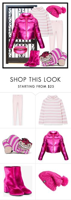 """""""Cheshire Cat Bag"""" by farradaymg ❤ liked on Polyvore featuring Uniqlo, MaxMara, Olympia Le-Tan, Balenciaga and The North Face"""
