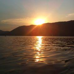 Sunset on Watauga Lake