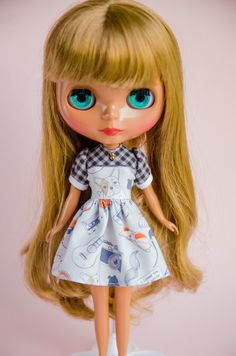 I'm a Hipster, Handmade Dress for Neo Blythe Doll by Plastic Fashion by PlasticFashion on Etsy