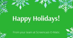 To all of our friends around the world. Sending you a ton of holiday joy this season! Screen Recorder, Happy Holidays, Joy, Friends, Amigos, Happy Holi, Glee, Being Happy, Boyfriends