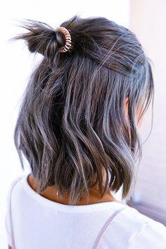 pastel hair lavender touchs //soft /subtle /bohemian /edgy