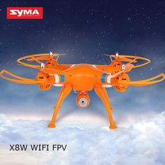 SYMA X8W RC Drone Dron 2.4G 4CH 6Axis WIFI FPV RC Helicopter Quadcopter With 0.3MP HD Camera Headless Mode 3D Rollover Drones