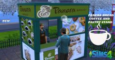 Panera Bread Coffee, Sims 4 Stories, The Sims 4 Lots, Sims 4 Gameplay, Coffee Stands, Sims 4 Build, Sims 4 Mods, Sims 4 Custom Content, Sims Cc