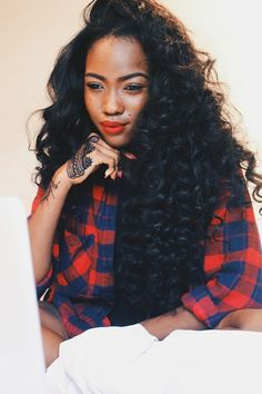 long hair, black women hairstyle, black girl, cute, gorgeous curls, curly hair, wavy hair