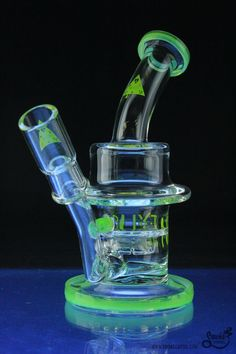 Nexus Glass Twerk Perc Bell Rig with Slyme Lip Wrap