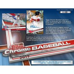2017 Topps Chrome Baseball Hobby Edition Factory Sealed 24 Pack Box - Fanatics Authentic Certified - Baseball Wax Packs         -- To view further for this item, visit the image link. (This is an affiliate link) #SportsCollectibles