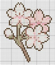 cherry bloom hama perler beads