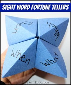 Remember these?  Use Fortune Tellers to help kids practice their Sight Words! (Free directions and tips included at this blog post.)
