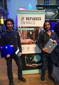 Future students - Syrian Refugees being taught coding skills in Germany