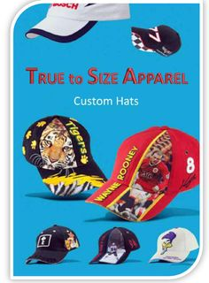 Custom hats builder. Wholesale cap makers.  #printed #logo #custom #embroidery #screen #apron #personalized #clothing #jackets #shirts