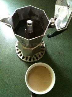 My morning Moka Pot of Coffee and Latte © Redberry Sky- Different Ways to Drink Stovetop Moka Pot Espresso Coffee