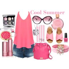 Cool Summer by prettyyourworld on Polyvore featuring uroda, Chanel, Estée Lauder, OPI, Oliver Peoples, Victoria's Secret, Shourouk, Footnotes Too, Trollbeads and Kate Spade