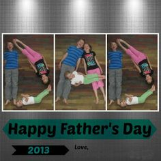 CONTROLLING Craziness: photo card with kids spelling out DAD