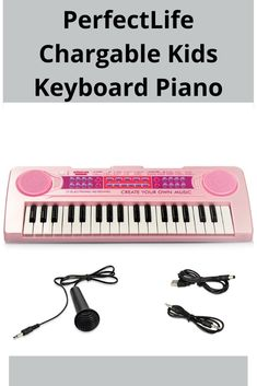 The keyboard arrives with double speakers, identical to most of the further popular brands for sale. But it also maintains outside sources like a removable microphone and usual standby sleep function as well. Kids Keyboard Piano, Kids Piano, Voice Effects, Learning Methods, Piano Keys, Karaoke, Speakers, Sleep, Songs