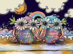 Aloha Owls by Karin Taylor