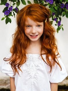 I like my red hair and mommy says it's beautiful! .#kids #fashion #bambini www.morseandnobel.com