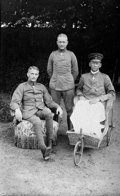 Lothar von Richthofen, Manfred von Richthofen and Lt. Oskar Schwerk