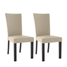 CorLiving DRC-875-C Bistro Woven Cream Dining Chairs, Set of 2, Cappuccino, Woven Cream