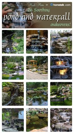 Create a soothing outside environment with a beautiful pond or waterfall!