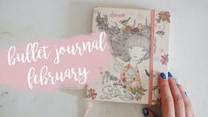 February 2018 bullet journal setup with watercolors and stamps eng || Pl...