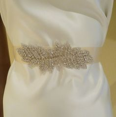 Wedding Sash, ISABELLA, Brida Sash, Bridal Belt, Crystal Sash, Wedding Sash, Rhinestone Bridal Sash. $44.00, via Etsy.