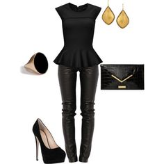 """sexy Black Outfit"" By Lizzybonescair On Polyvore"