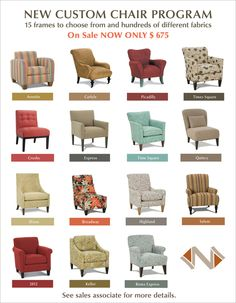 New Custom Chair Program Poster by Ka Man Lee, via Behance