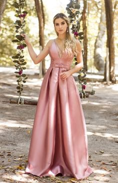 Charming Long A-line Pink V-neck Prom Dresses Evening Dresses, Shop plus-sized prom dresses for curvy figures and plus-size party dresses. Ball gowns for prom in plus sizes and short plus-sized prom dresses for Gold Prom Dresses, V Neck Prom Dresses, Prom Dresses For Sale, Bridesmaid Dresses, Popular Dresses, The Dress, Evening Dresses, Party Dress, Pink