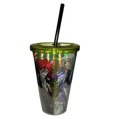 This is the Black Butler Foil Cast Travel Cup. It's awesome! Black Butler has become one of the top Anime shows in the United States in the last few years. This acrylic cup holds 18 ounces of liquid a