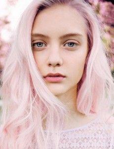 Pastel pink hair