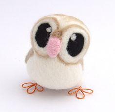 Tweet Hoot Little Barn Owl in soft Browns