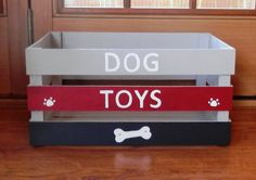 Dog Toy Storage Dog Toy Box Wooden Crate Unique Toy