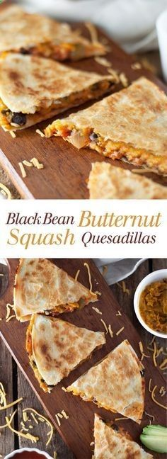 Eat Stop Eat To Loss Weight Black Bean and Butternut Squash Quesadillas - These cheesy quesadillas are actually healthy! I can't stop eating them. Full recipe at theliveinkitchen.com In Just One Day This Simple Strategy Frees You From Complicated Diet Rules - And Eliminates Rebound Weight Gain