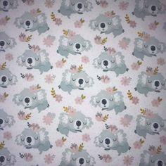 Jersey Sleeping Koala Sleep, Product Photography, Fabrics, Cotton
