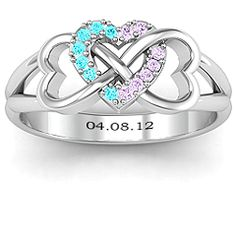 Love this with our birthstones and anniversary!