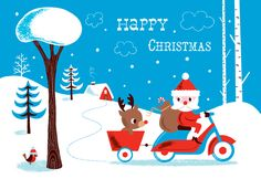 Christmas illustration by Amy Blay