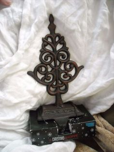 "NEw cast iron holder hanger hook decoration garden or christmas stocking  for sale in my store The Chic N Prim cottage ebay have to put in the ""the "" in search engine $15 FREE Shipping when you spend $30 or more!#thechristmasshoppe"