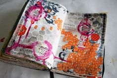 Collage Monday - the challenge was to use a page of ugly stickers you haven't touched. Awesome idea!