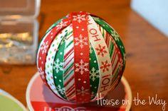 Christmas Ribbon Ornament Craft