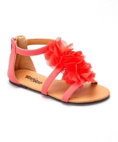 Look what I found on #zulily! Coral Flower Petal Sandal by VeeVee #zulilyfinds