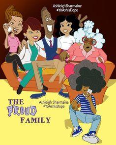 The proud family series Black Cartoon Characters, Black Girl Cartoon, Dope Cartoon Art, Dope Cartoons, Fictional Characters, Black Love Art, Black Girl Art, Cartoon Wallpaper Iphone, Cute Cartoon Wallpapers