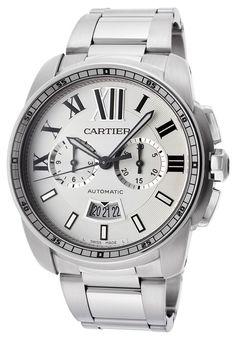 Elevenfy | Herren Automatik Chronograph Uhr Cartier W7100045 Calibre Edelstahl