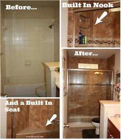 Awesome Bathroom remodel project for the DIY'ers!  Great ideas