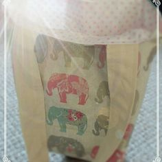 Handmade Fabric Tote Bag by LillianaDesignsUK on Etsy Fabric Tote Bags, My Etsy Shop, Elephant, Trending Outfits, Unique Jewelry, Handmade Gifts, Vintage, Check, Kid Craft Gifts